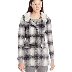 Wool Coat with Sherpa Lining